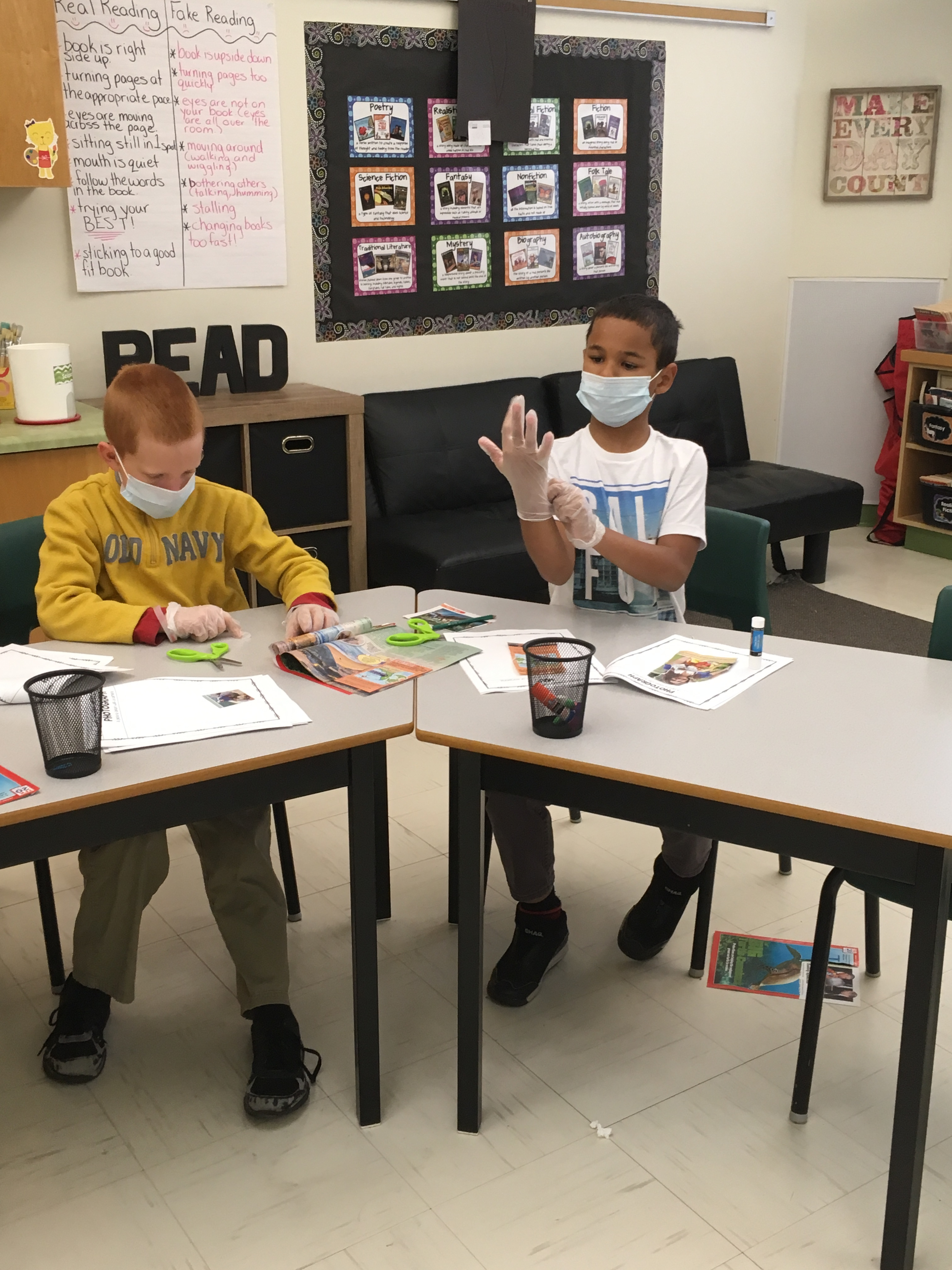 "Grade 3 Students performing ""Text Feature Surgery"""