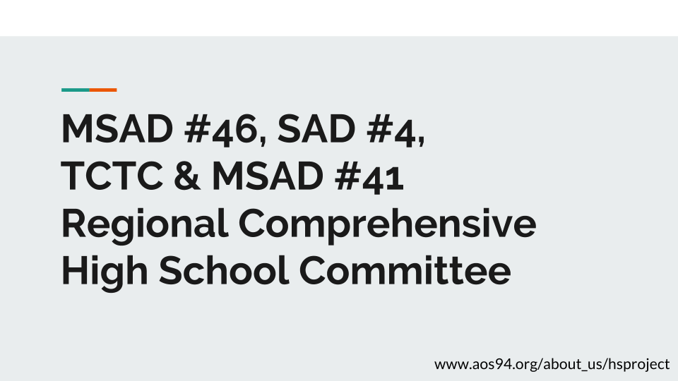 Regional Comprehensive High School Project - AOS #94